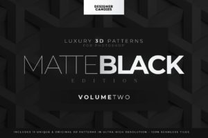 3D Matte Black Patterns Vol.2 for Photoshop