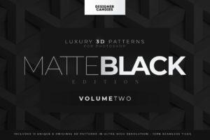 3D Matte Black Patterns Vol.2 for Photoshop