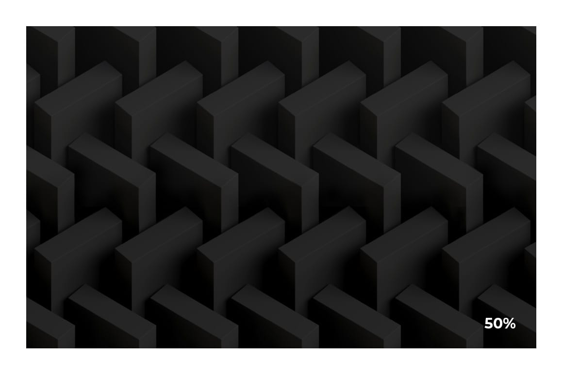 3D Matte Black Pattern for Photoshop