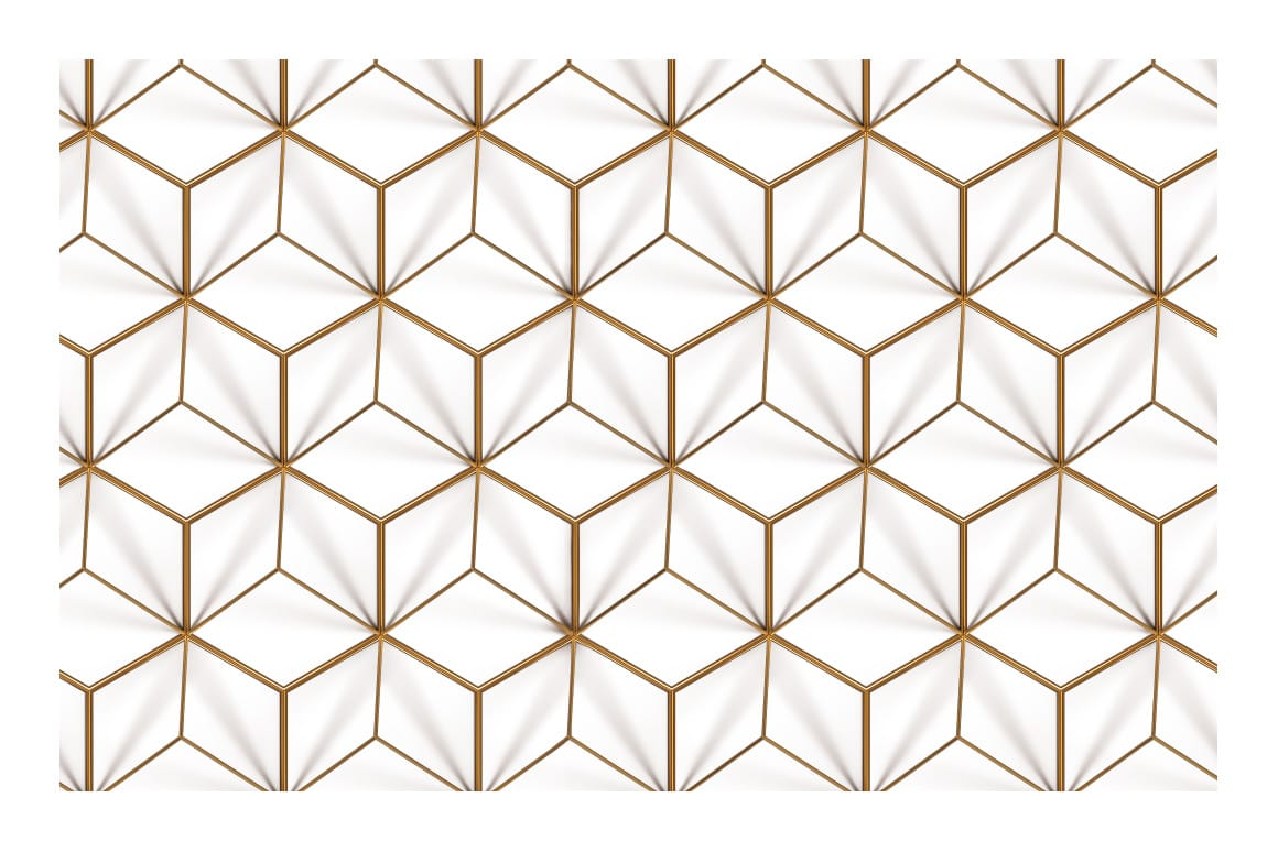 3d Gold Geometric Patterns For Photoshop Designercandies
