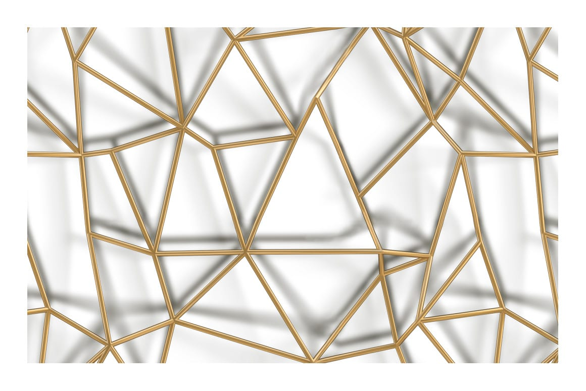 3D Gold Geometric Pattern