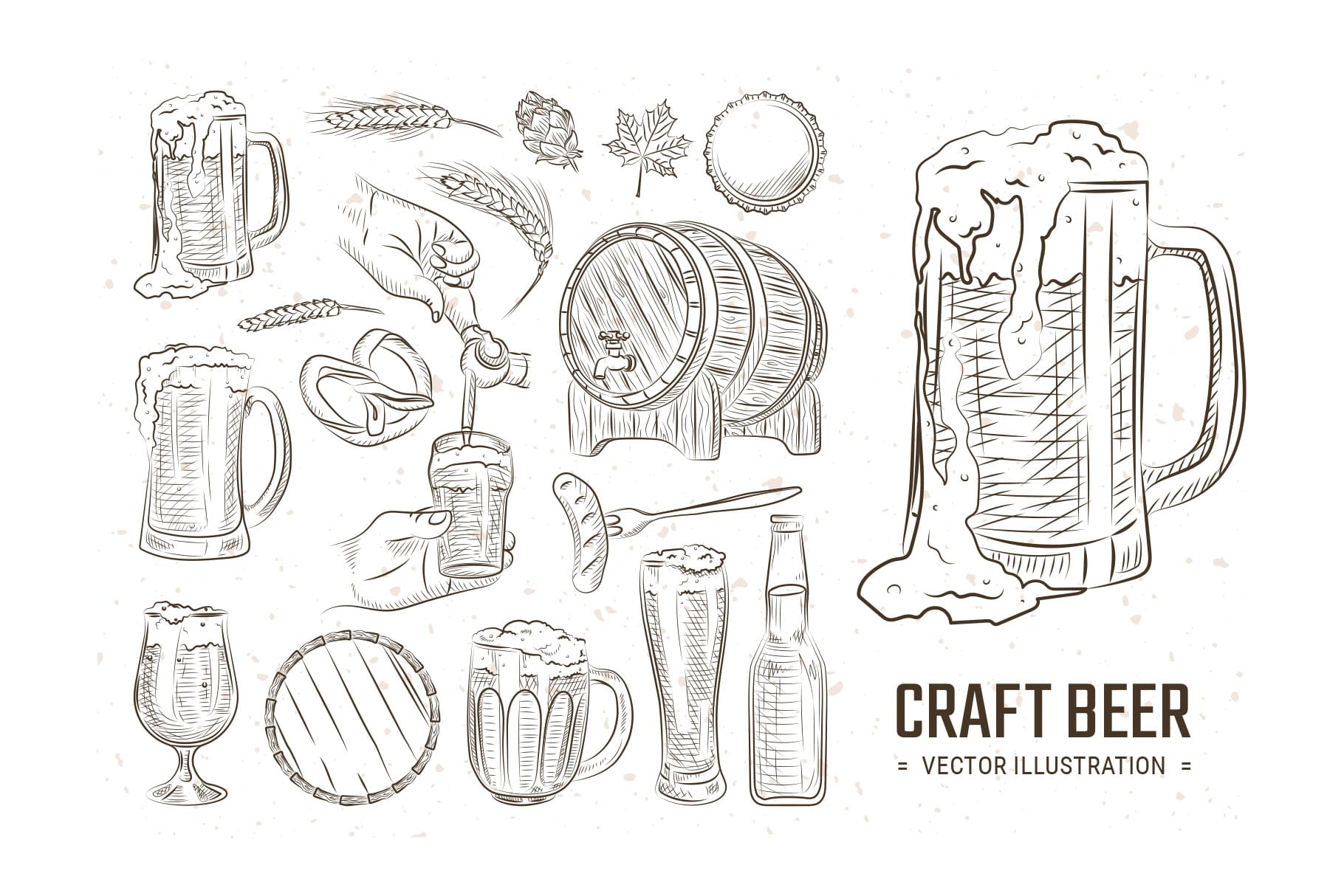 Beer Vector Line Illustrations