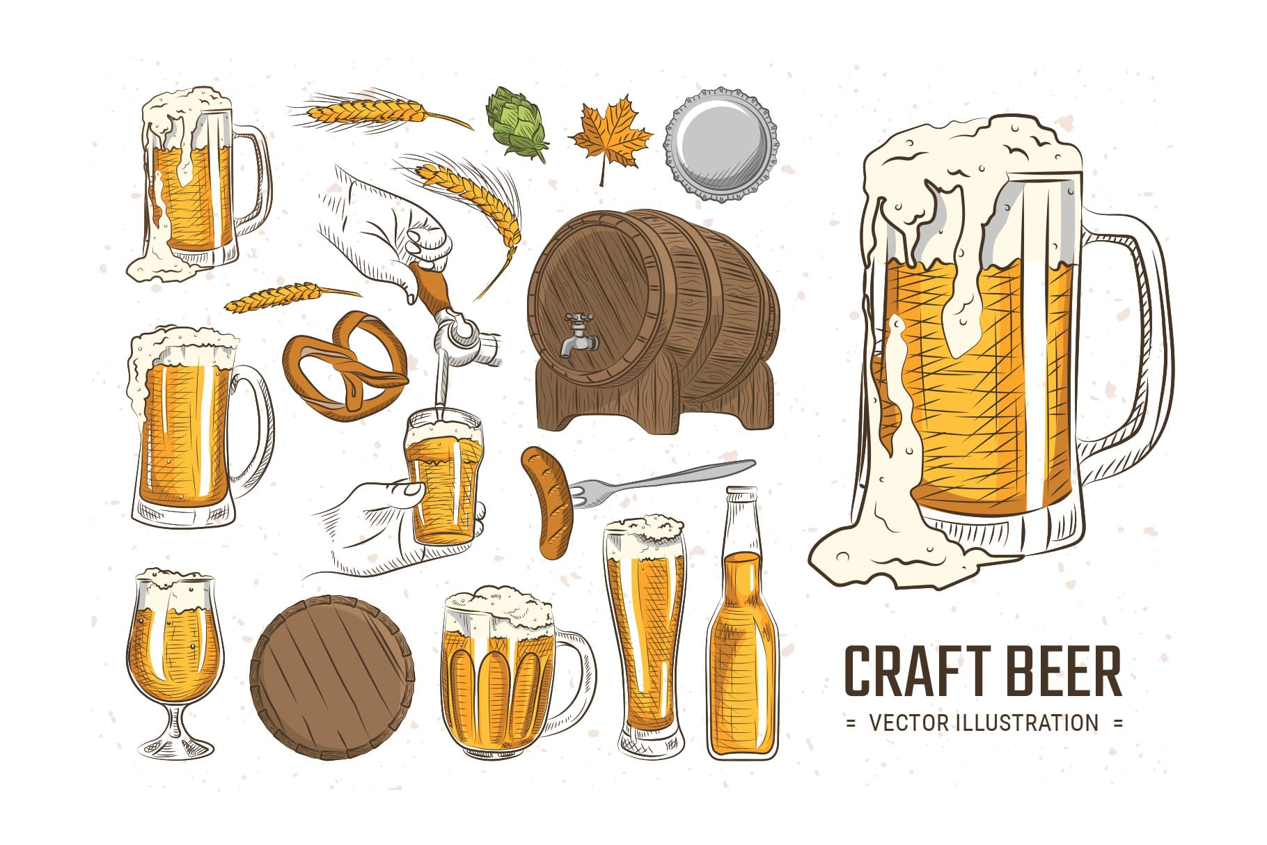 Cartoon Beer Illustrations in PSD & Vector