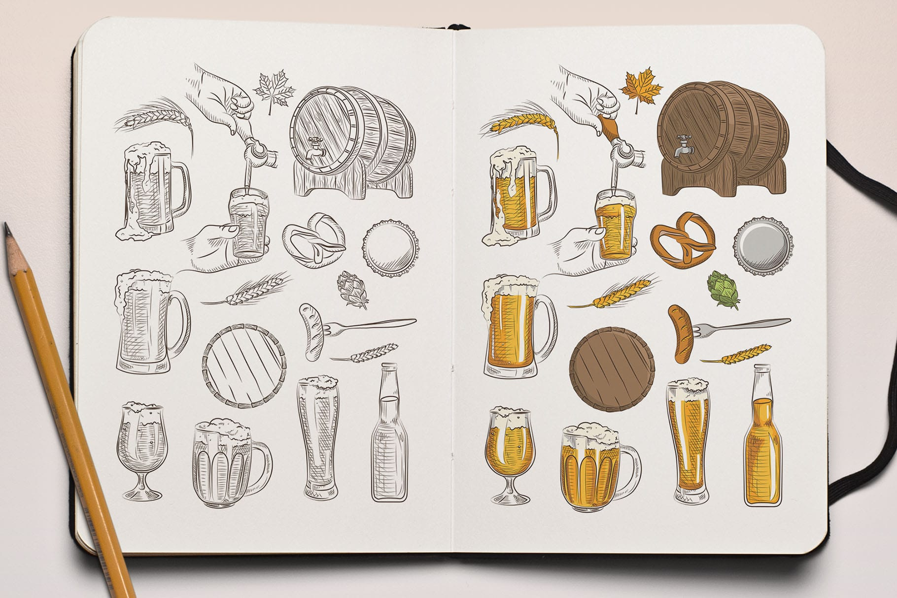 Craft Beer Illustrations