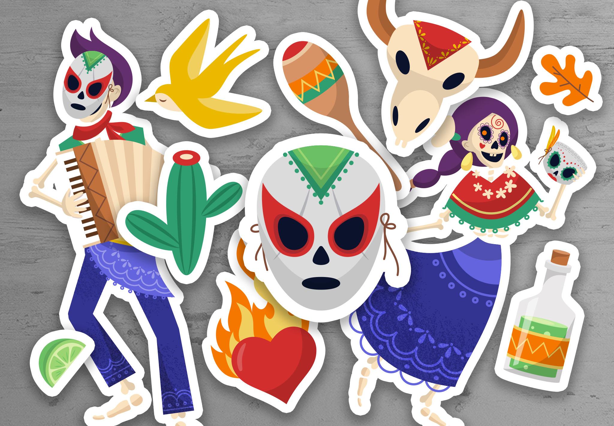 Dia De Los Muertos Illustrations Pack