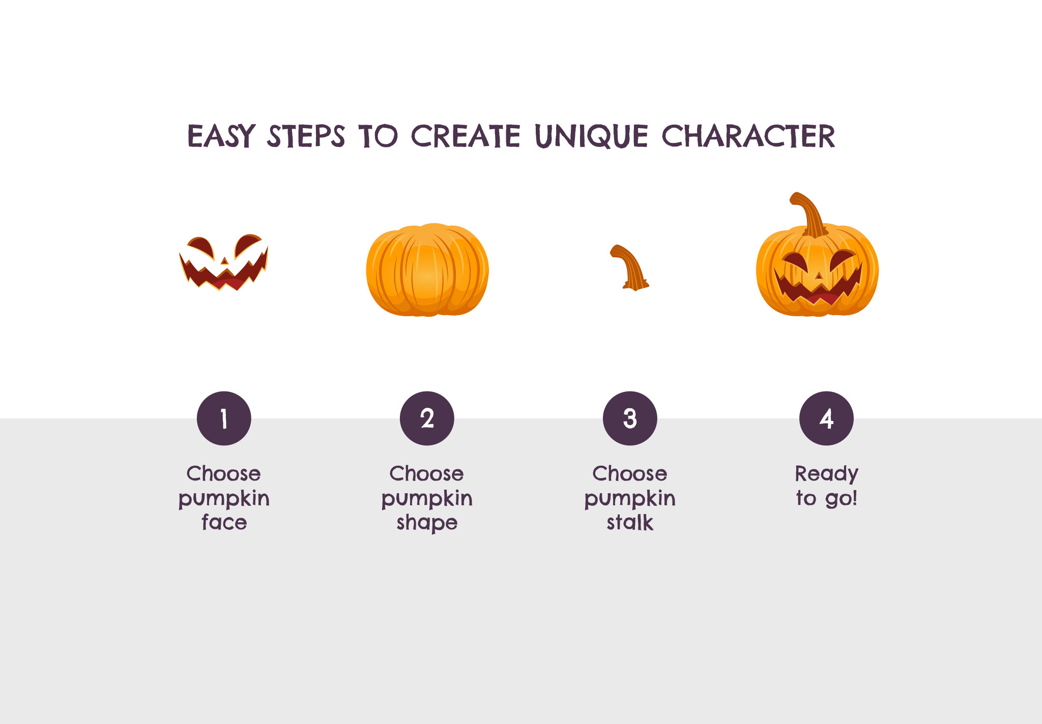 Halloween Creator Kit Steps