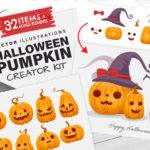 Halloween Pumpkin Vector Creator Kit