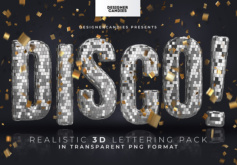 3D Disco Ball Text Pack