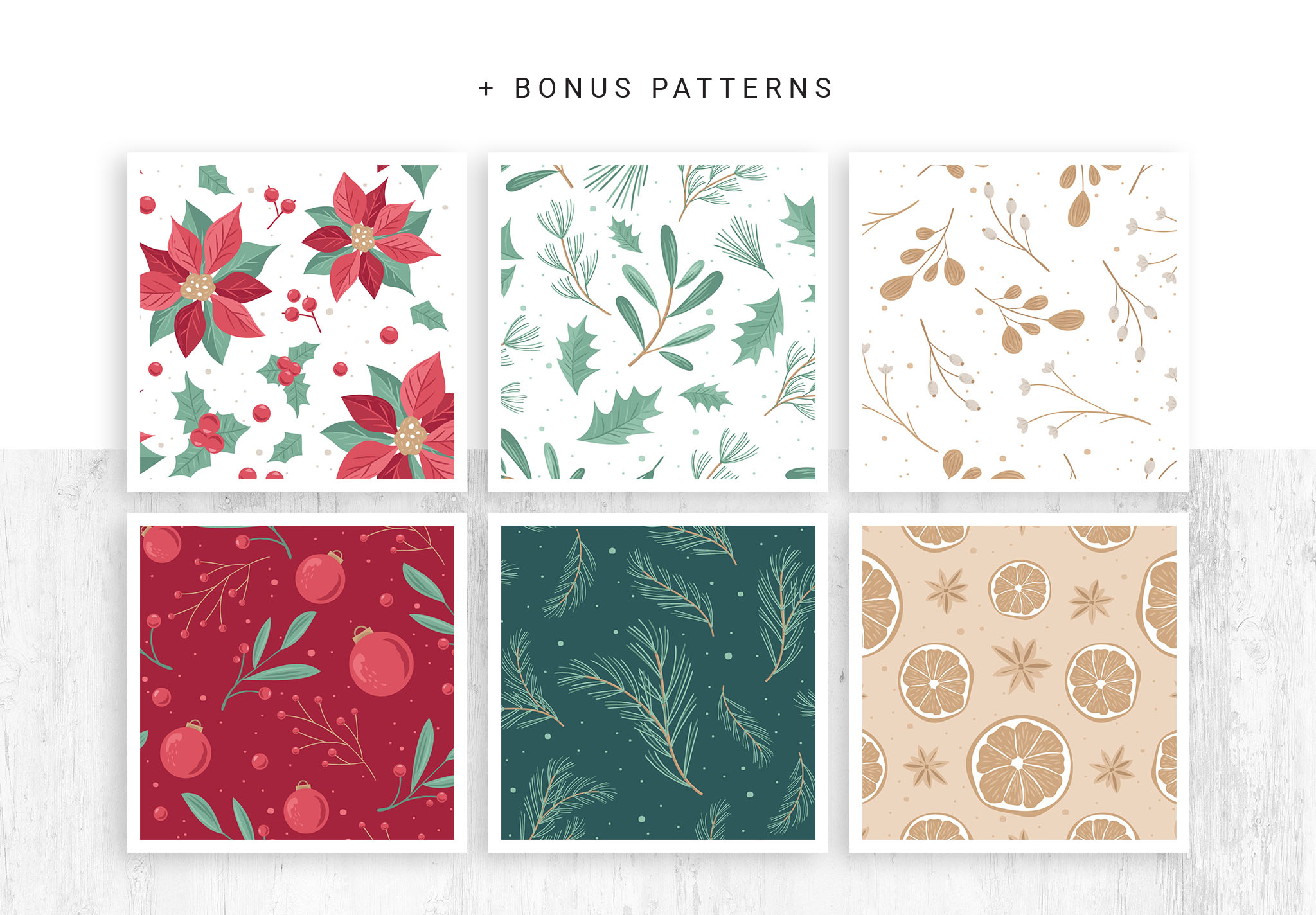 Christmas Patterns for Photoshop & Illustrator