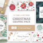 Festive Christmas Vector Graphics for Photoshop & Illustrator