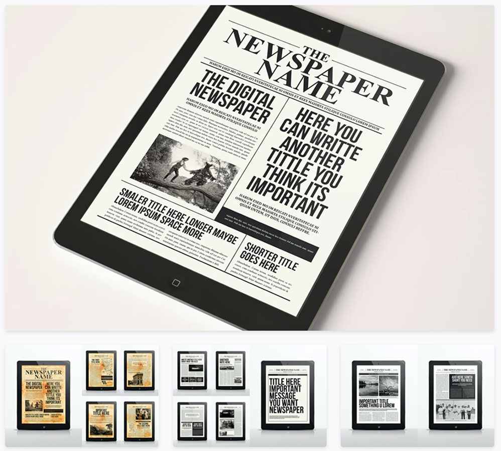 Digital Newspaper InDesign Template