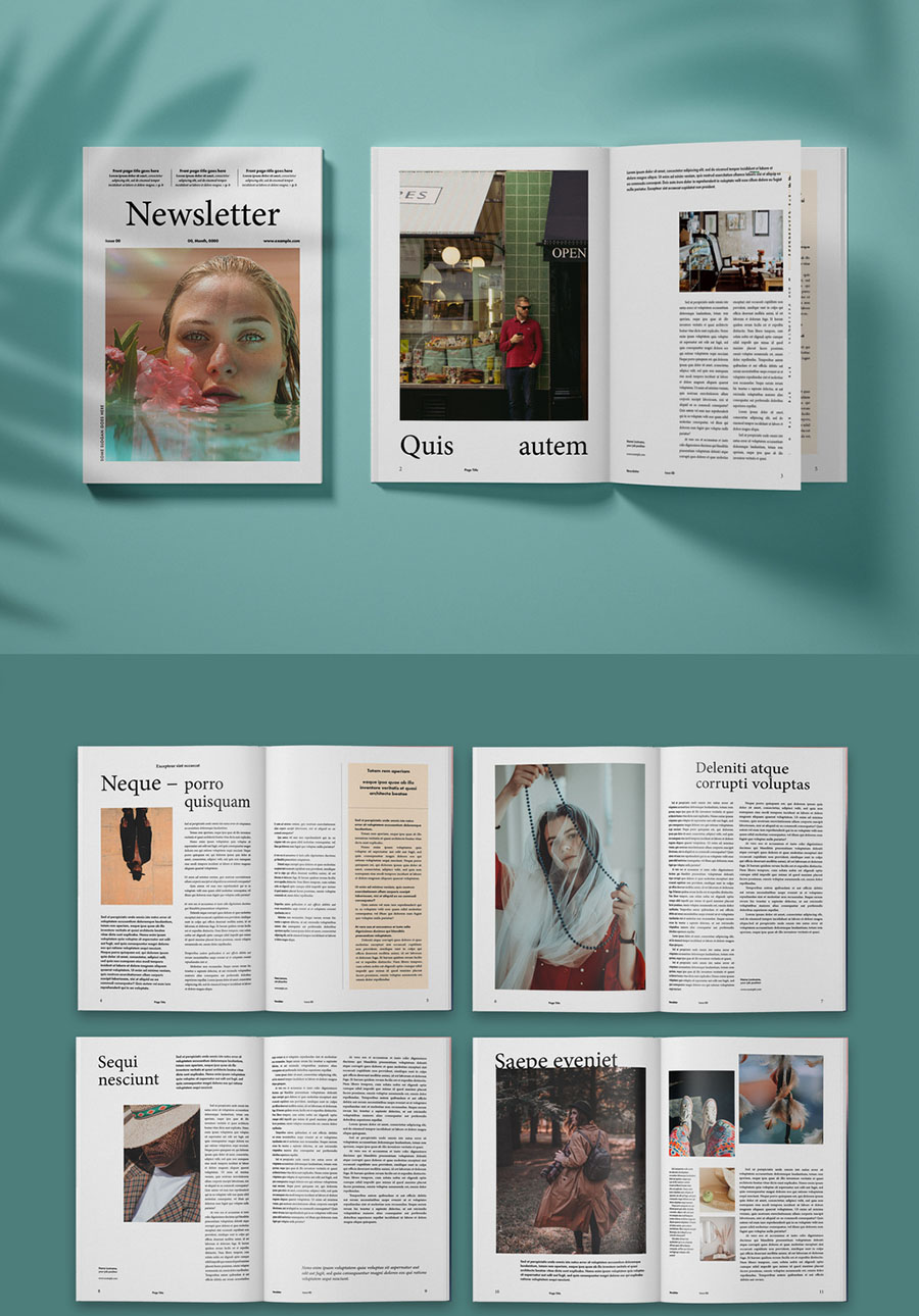Clean Fashion Magazine Layout
