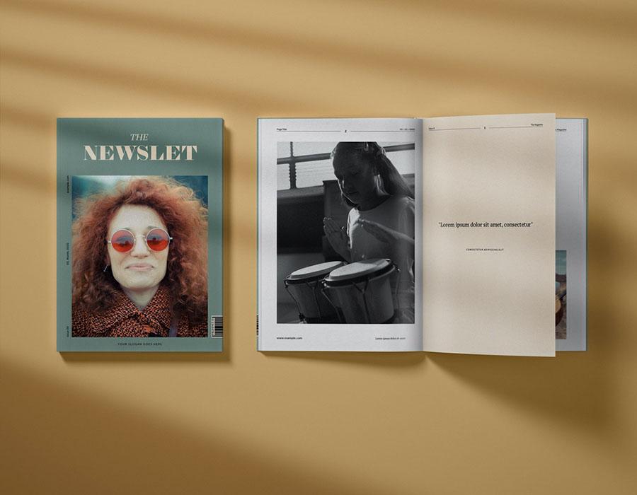 Modern Music Magazine Layout