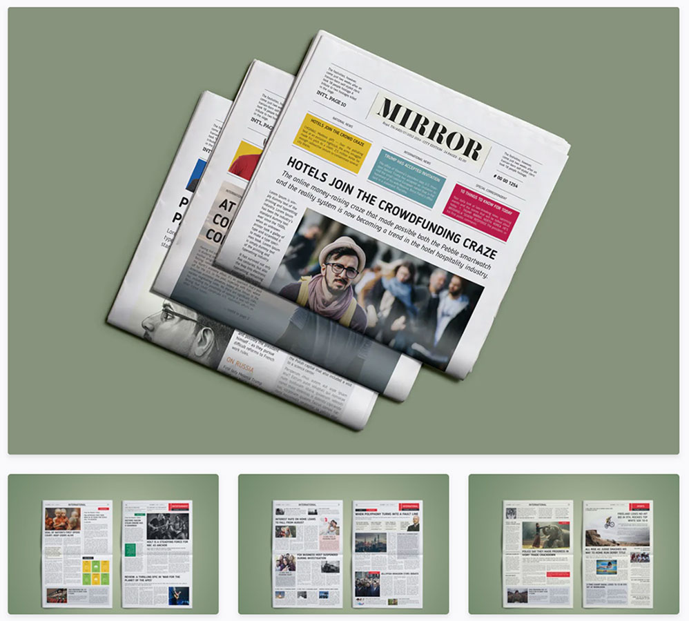 Mirror Newspaper Template