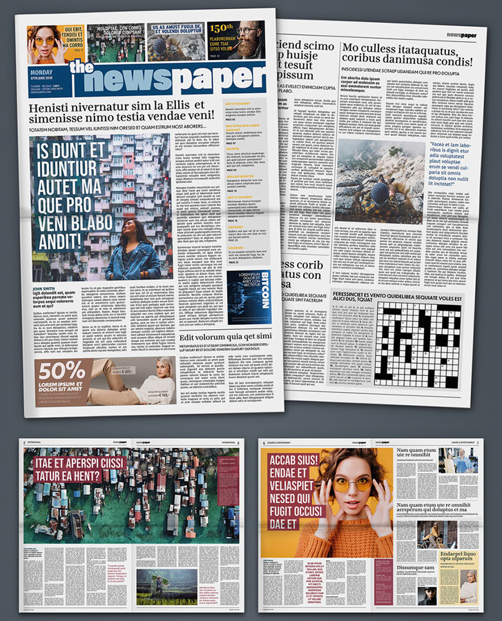 Modern Newspaper Design Layout