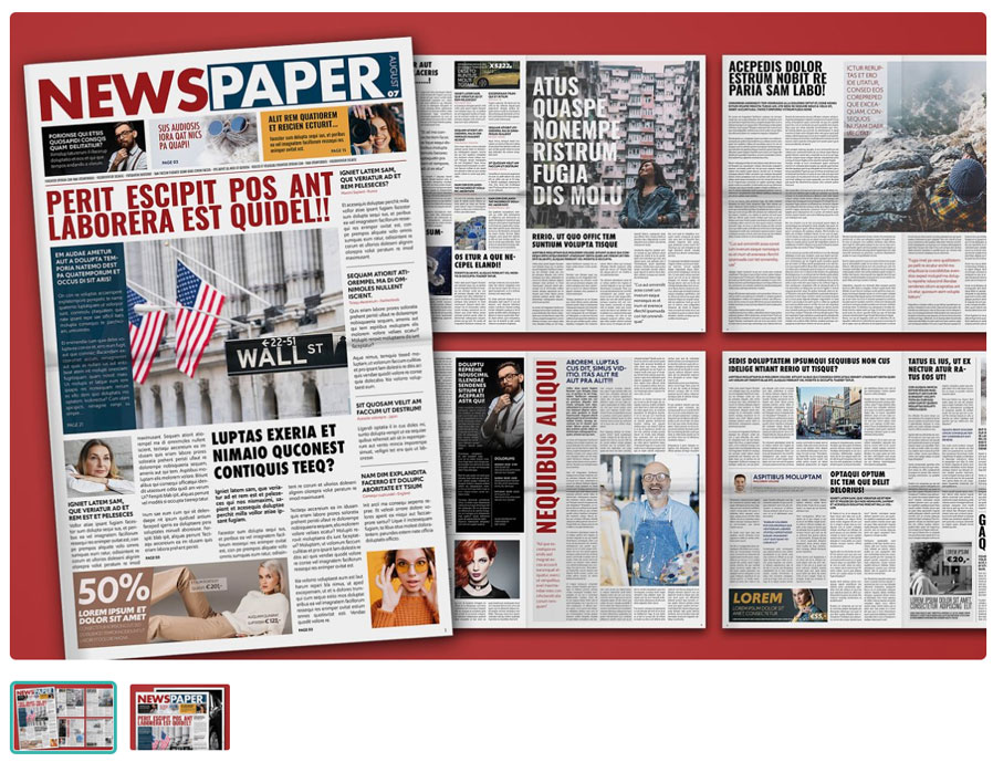 Modern Tabloid Newspaper Layout Template