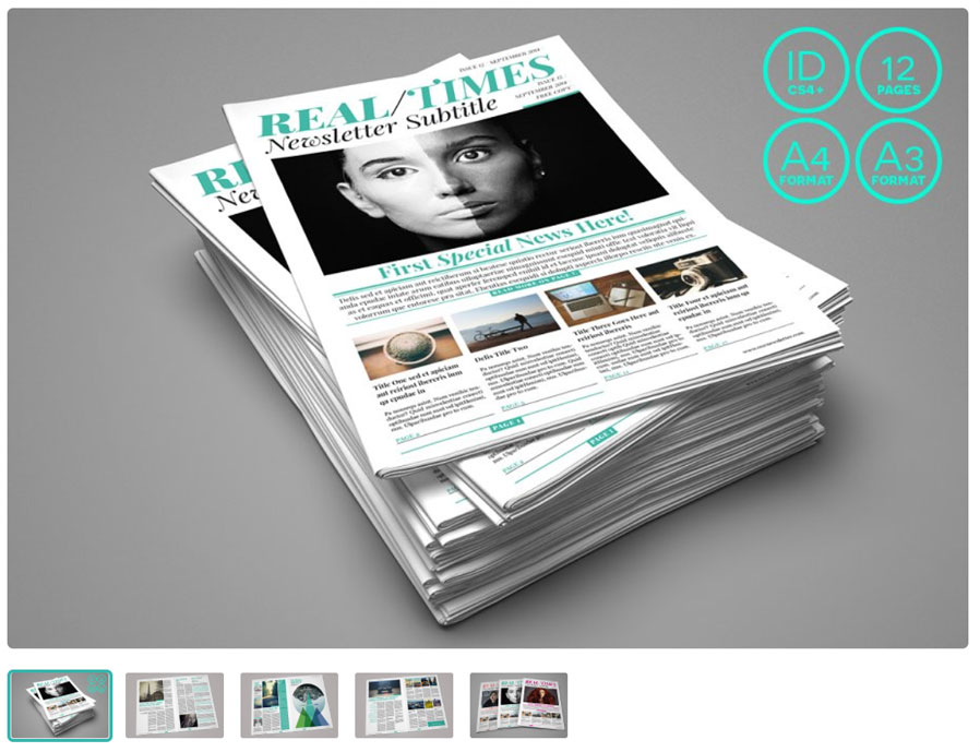 Multiformat Newspaper Template