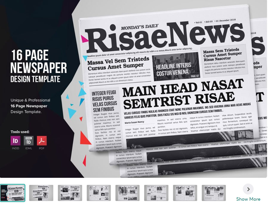 Multipurpose Newspaper InDesign Template