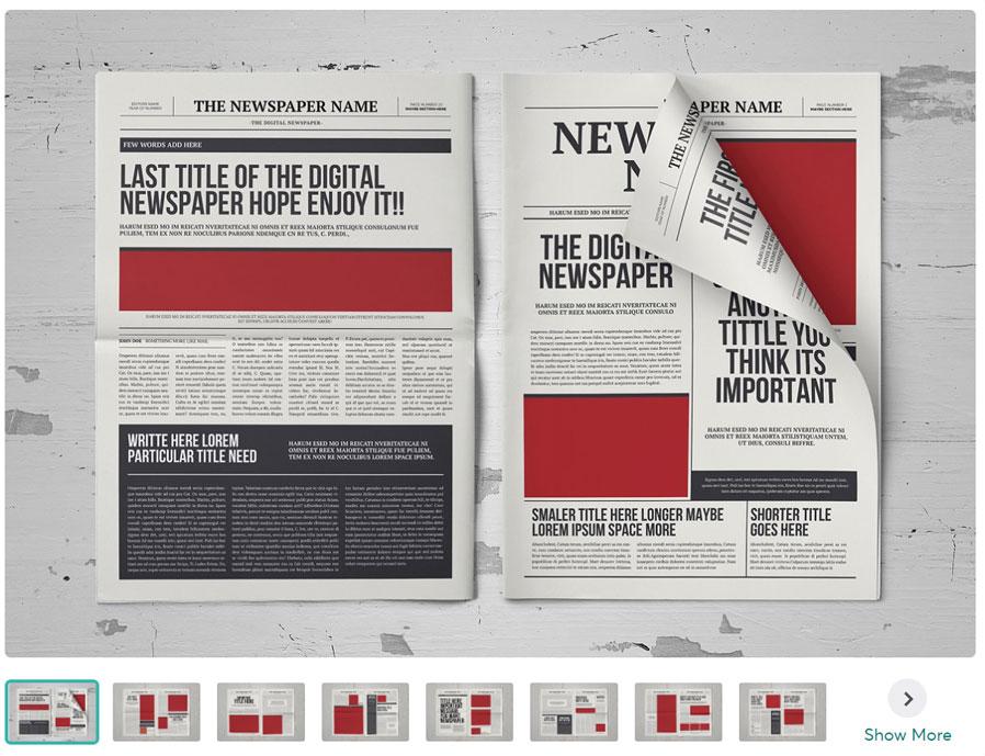 New Classic A3 Newspaper Template