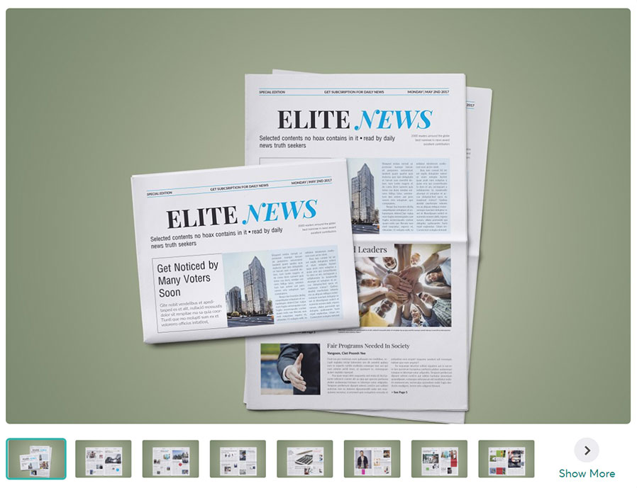 Newspaper Elite InDesign Template