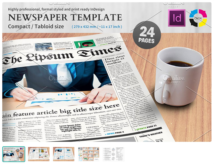 Compact Newspaper-Template