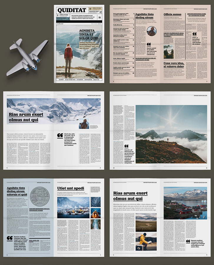Outdoor and Travel News Layout