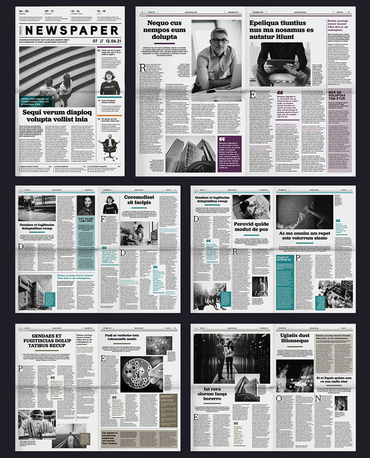 Tabloid Newspaper Layout Template