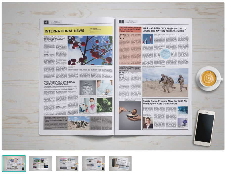 Contemporary Design Newspaper Template