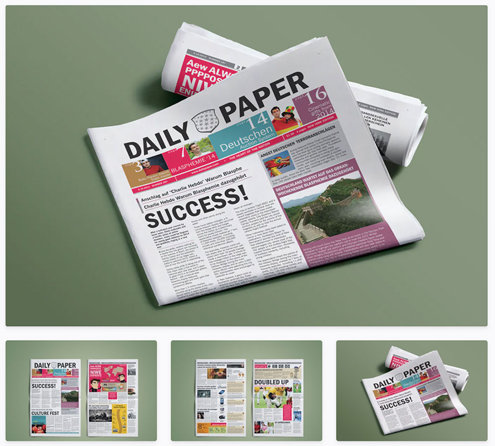Daily Paper Newspaper Template