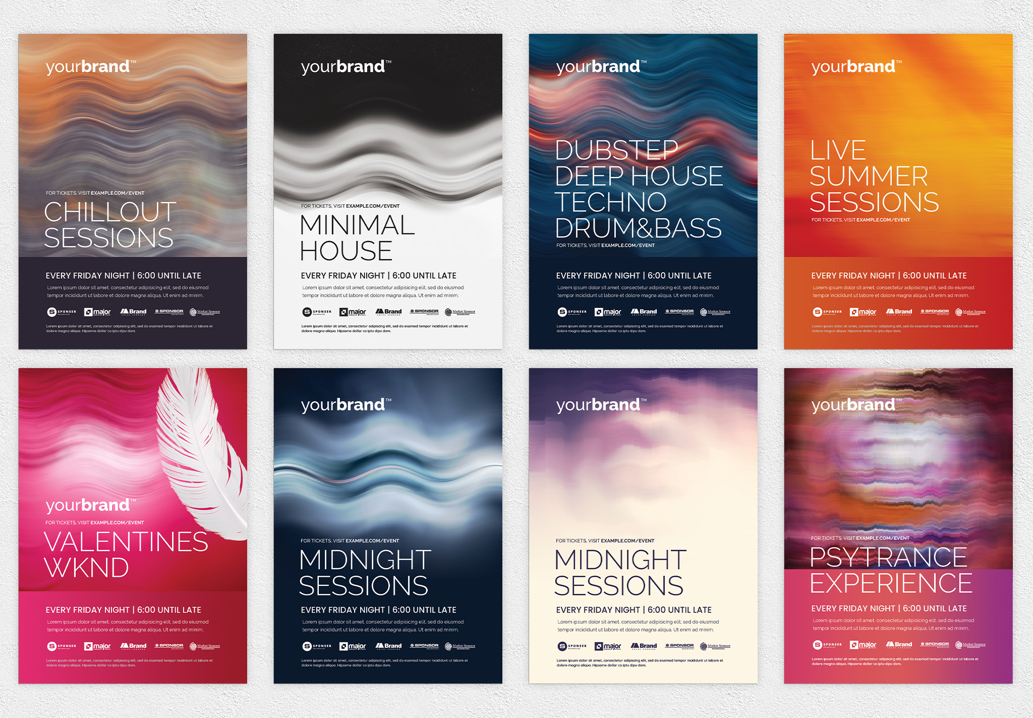 Minimal Nightclub Flyer Templates PSD for Photoshop