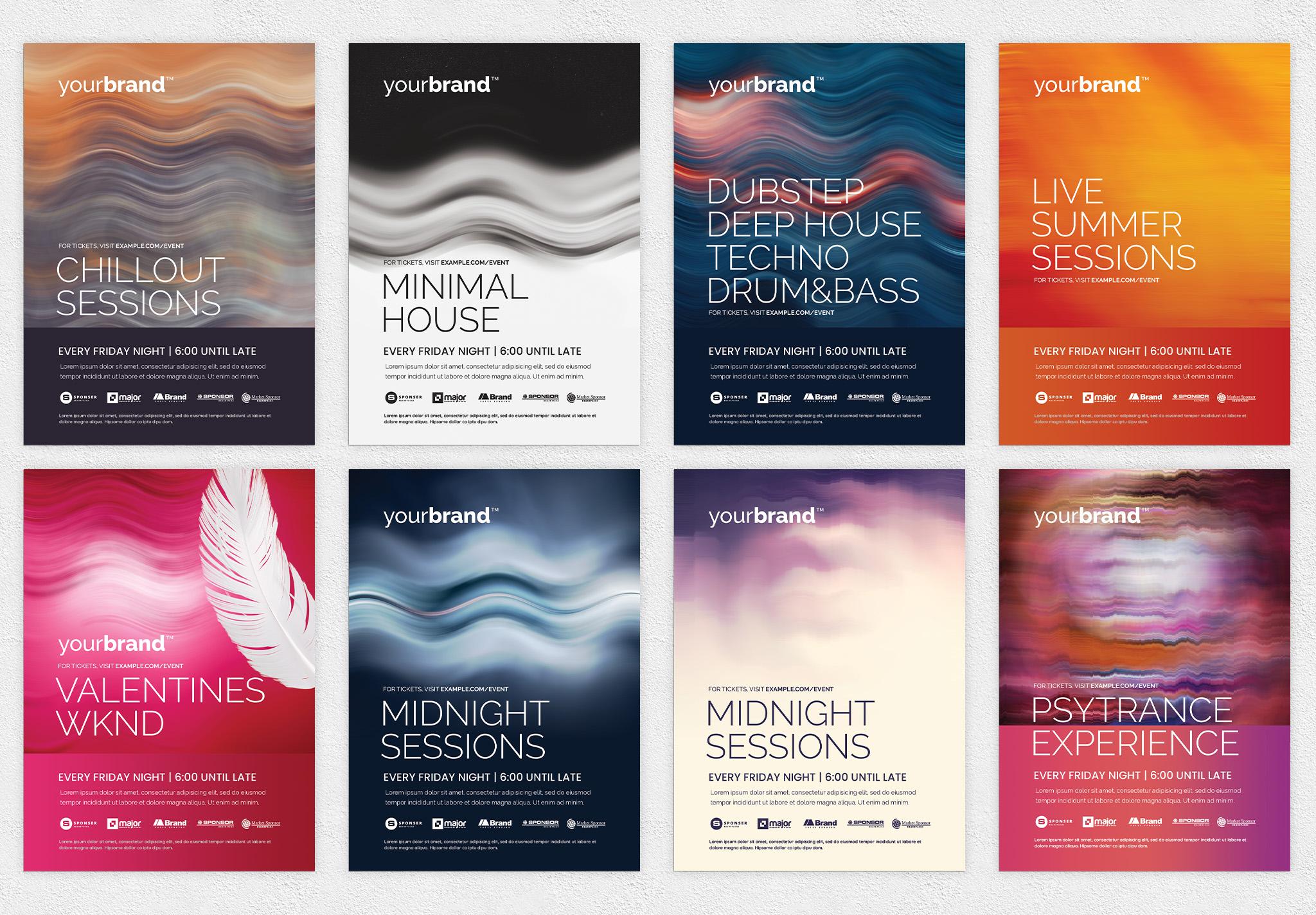 Minimal Nightclub Flyer Templates PSD for Photoshop