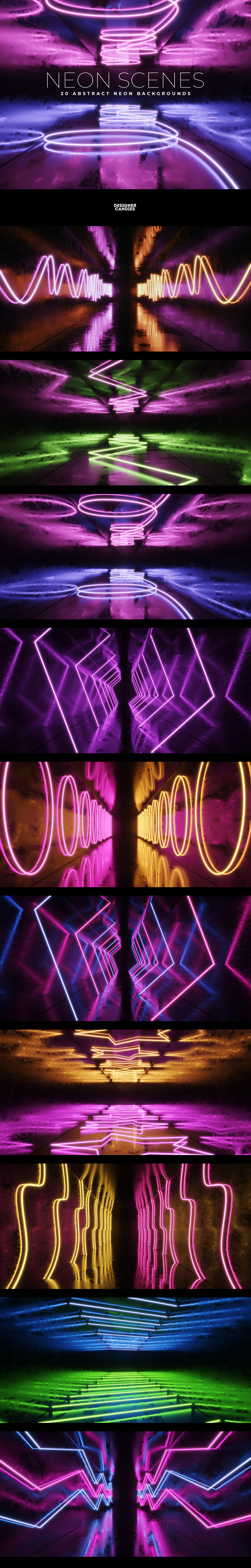 Neon Scenes Abstract Neon Background Images