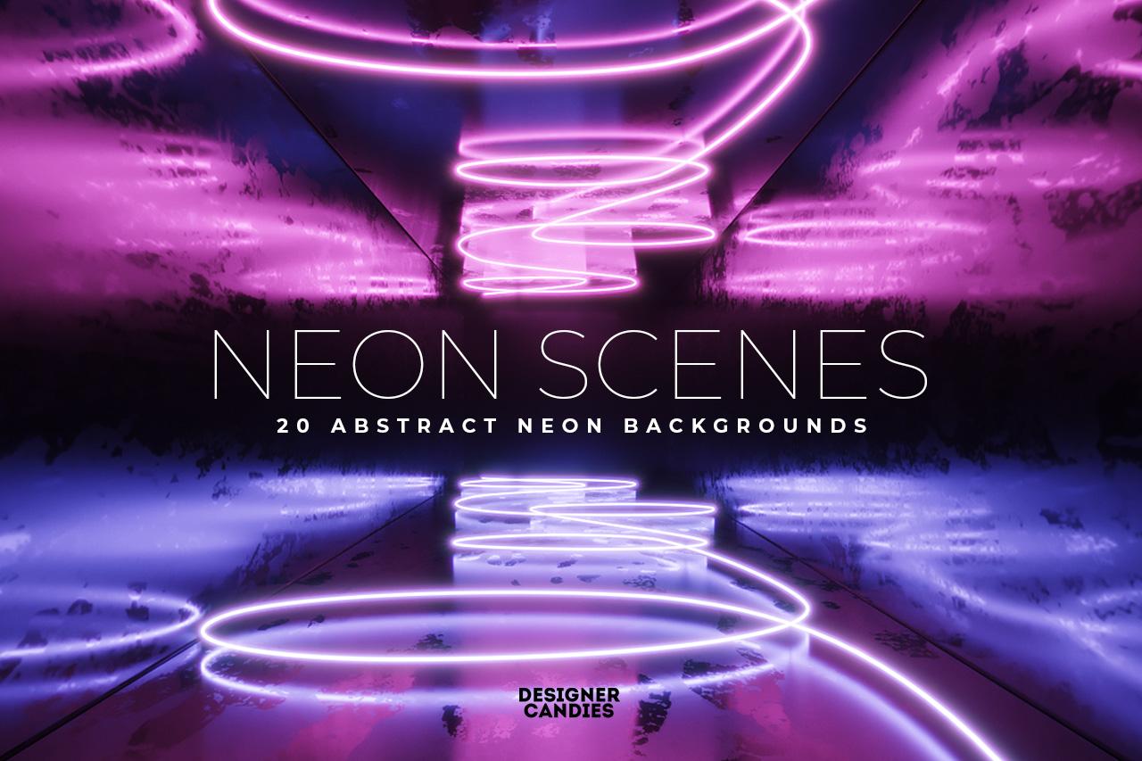 Neon Scenes Abstract Background Textures