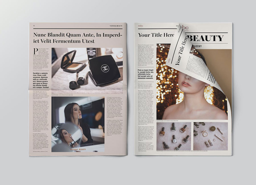 Classic Beauty/Financial Newspaper Template