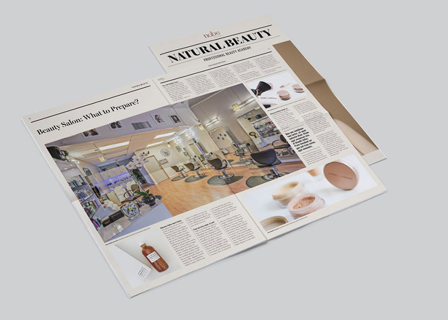 Natural Beauty Newspaper Template