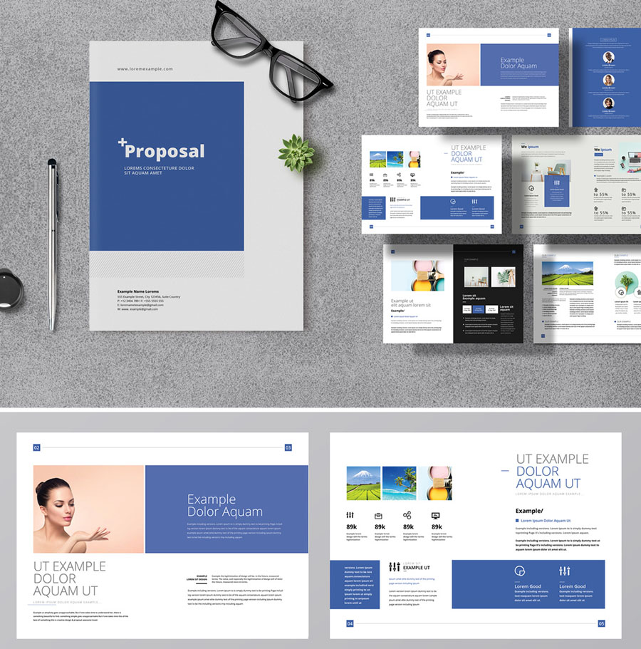 Blue Accent Minimal Creative Proposal Layout