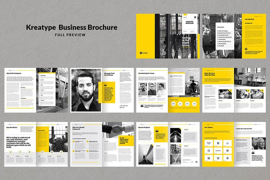 Kreatype InDesign Brochure Templates
