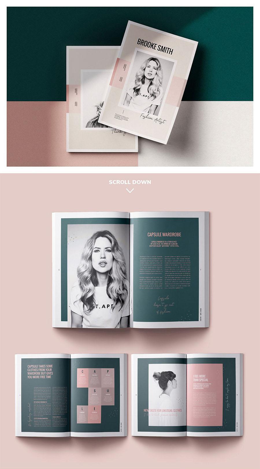Magazine / CANVA, INDD / Brooke