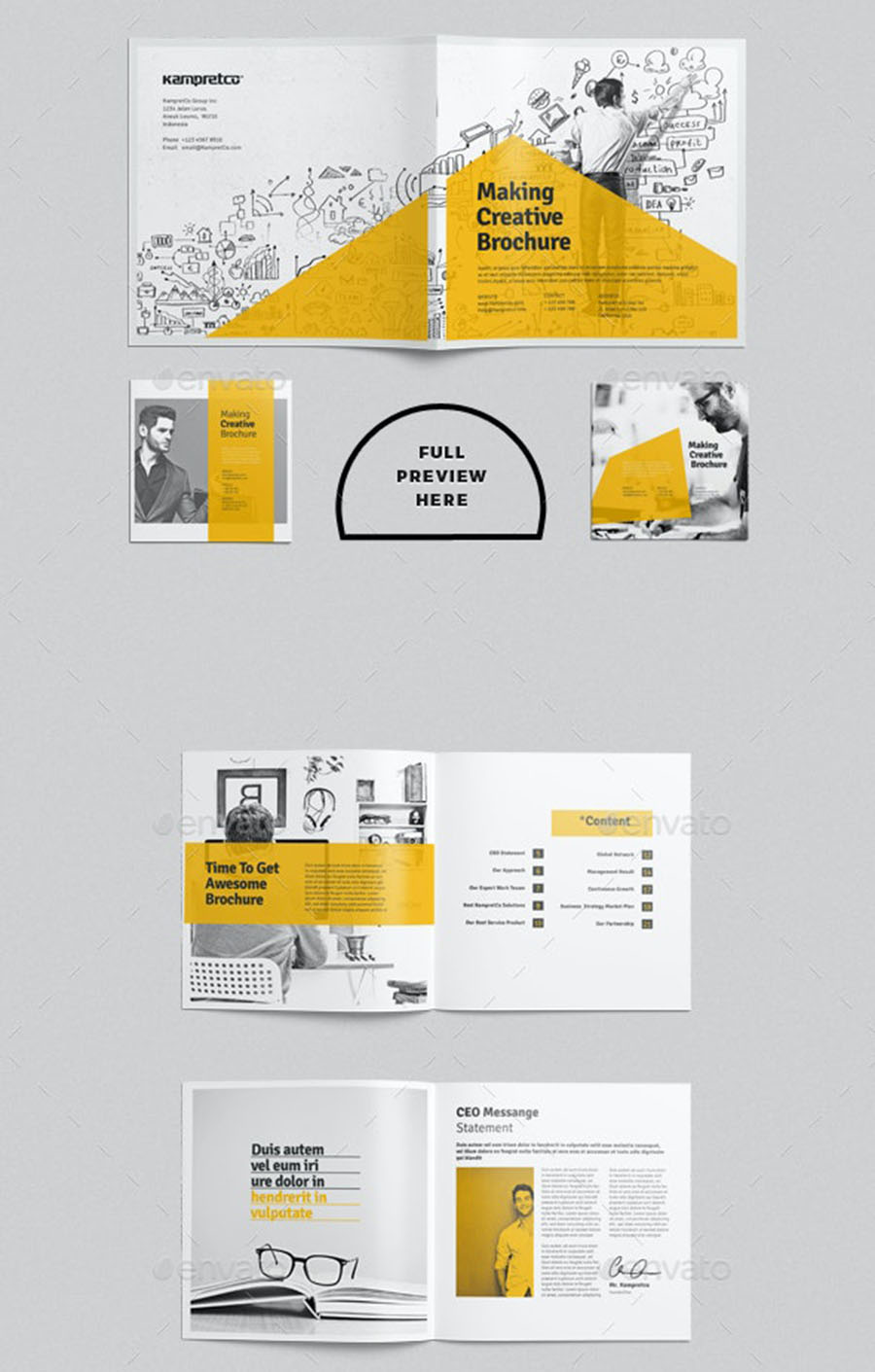 Square InDesign Brochure Template