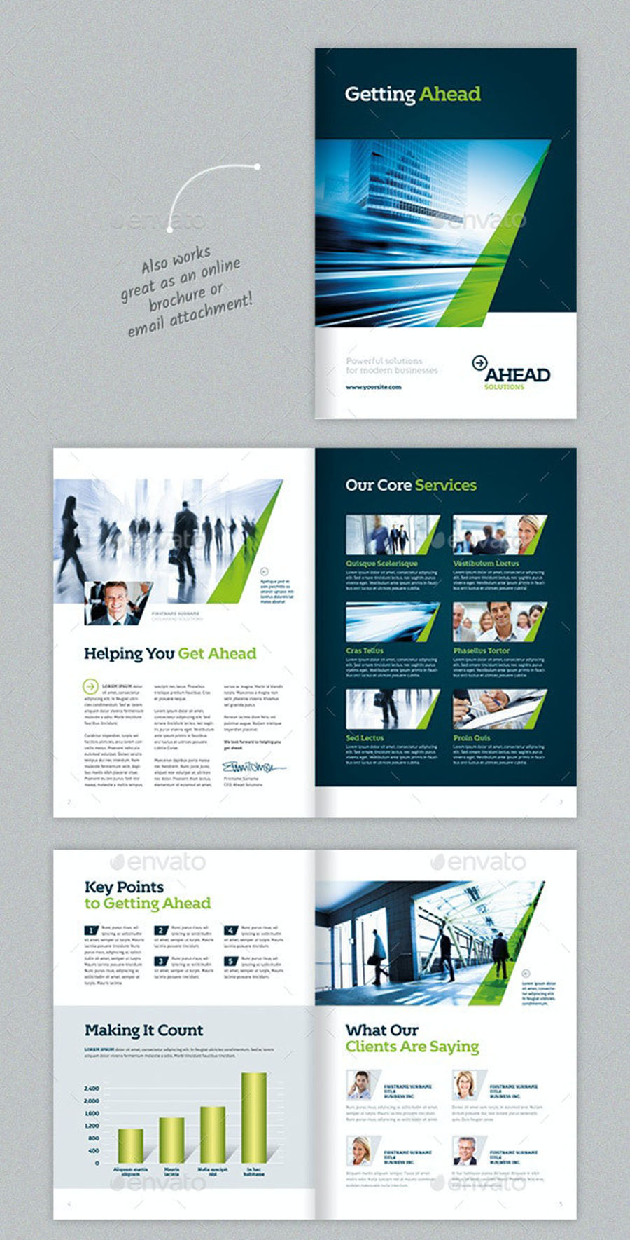 Green Accent Company Brochure Template