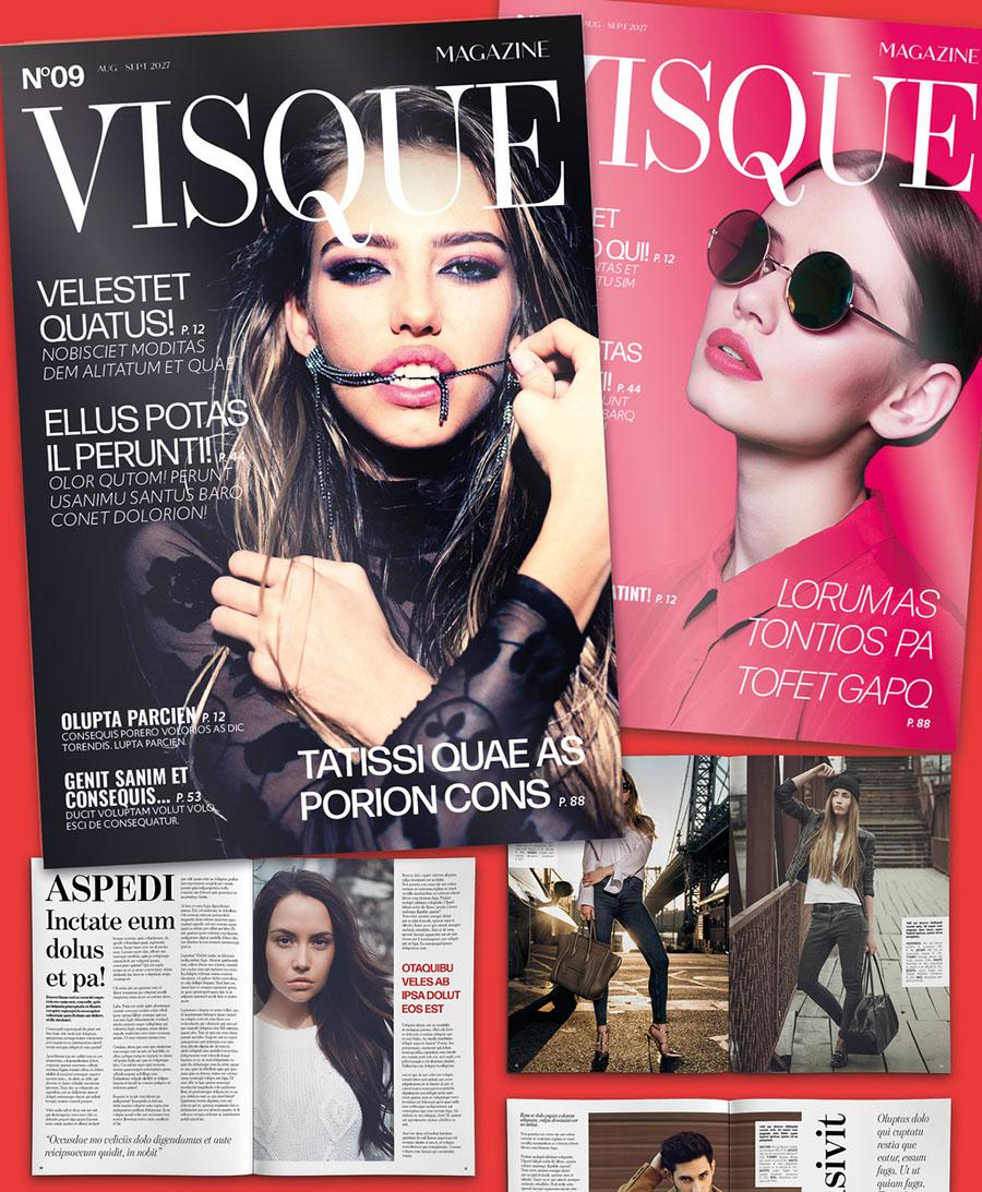 Fashion and Lifestyle Magazine Design Layout