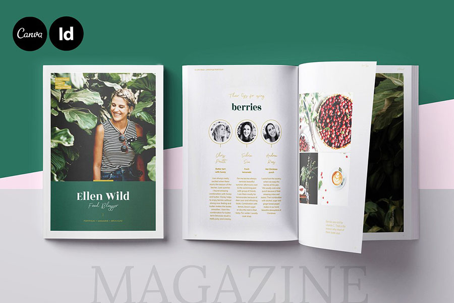 Magazine Layout for CANVA, INDD
