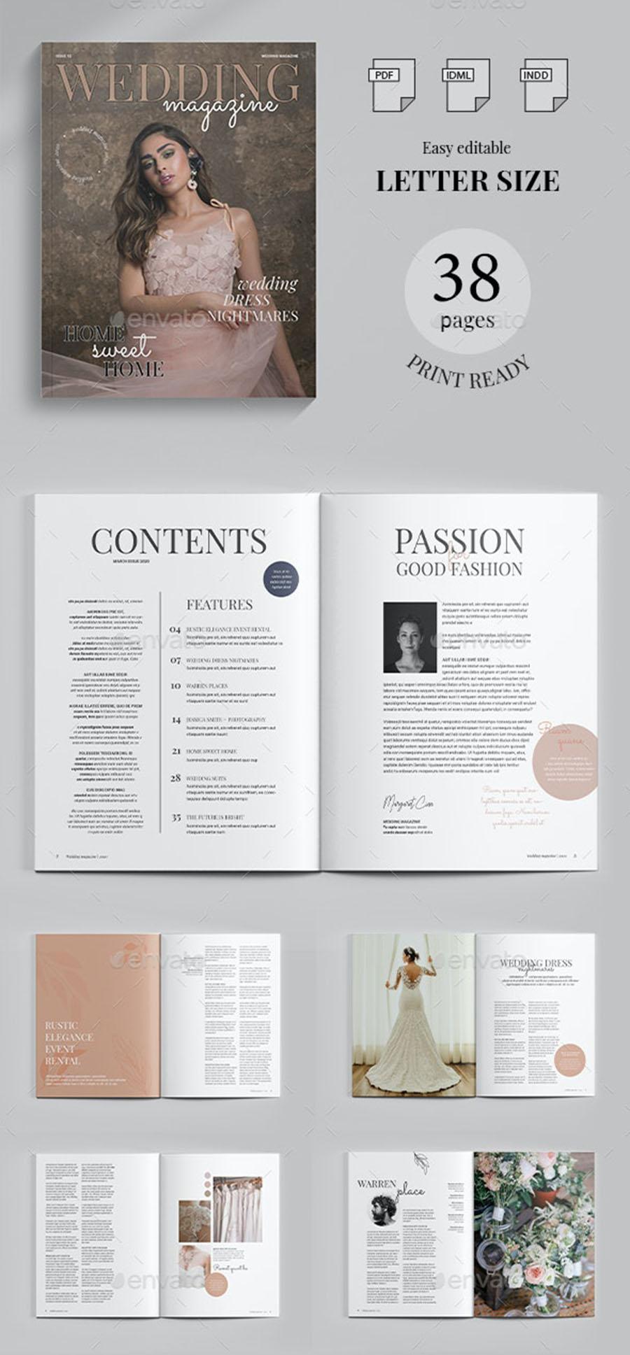 InDesign Wedding Magazine Template