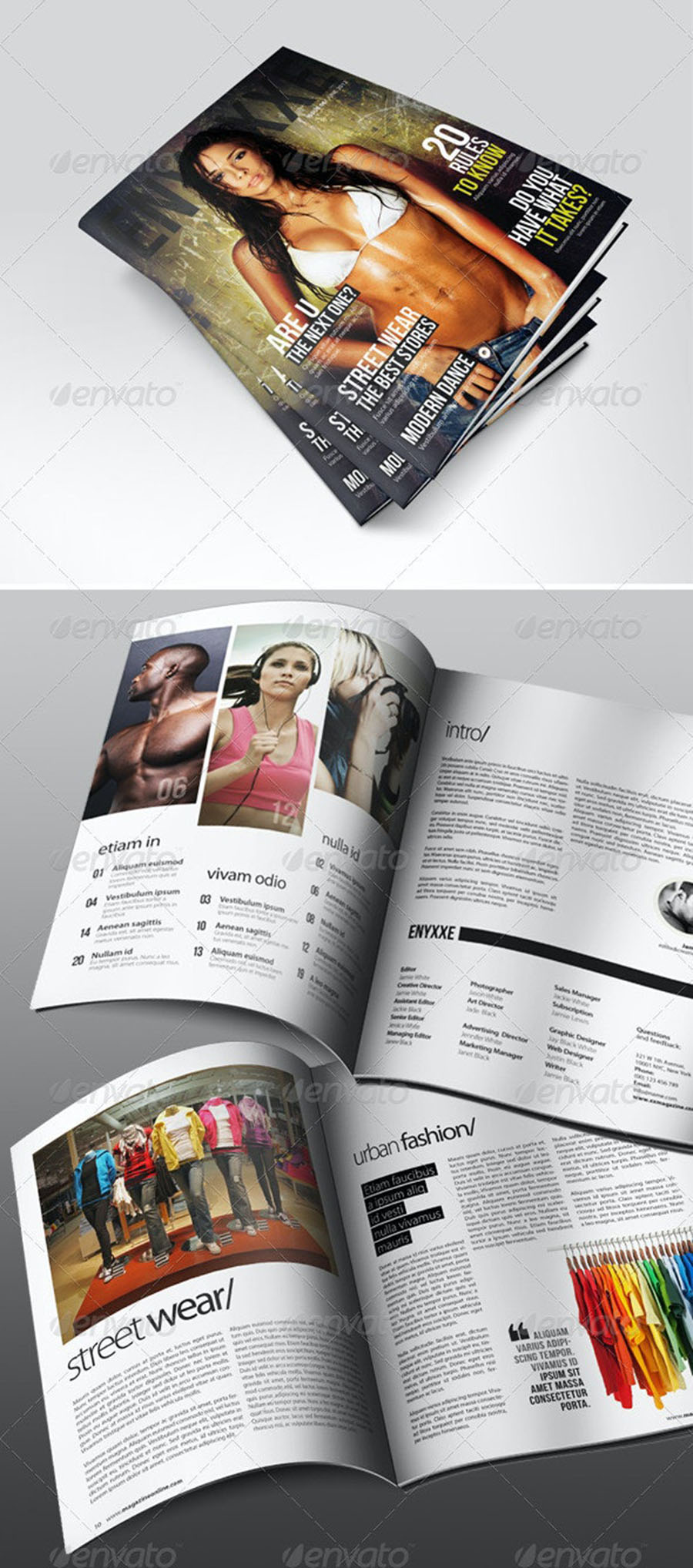 Professional InDesign Magazine Template