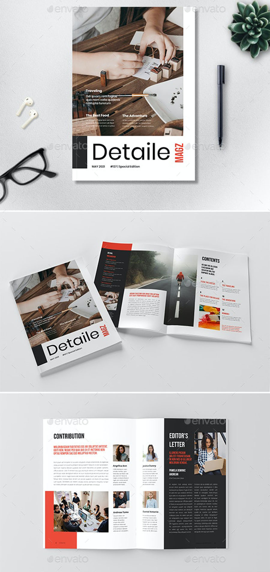 Detaile InDesign Magazine Template