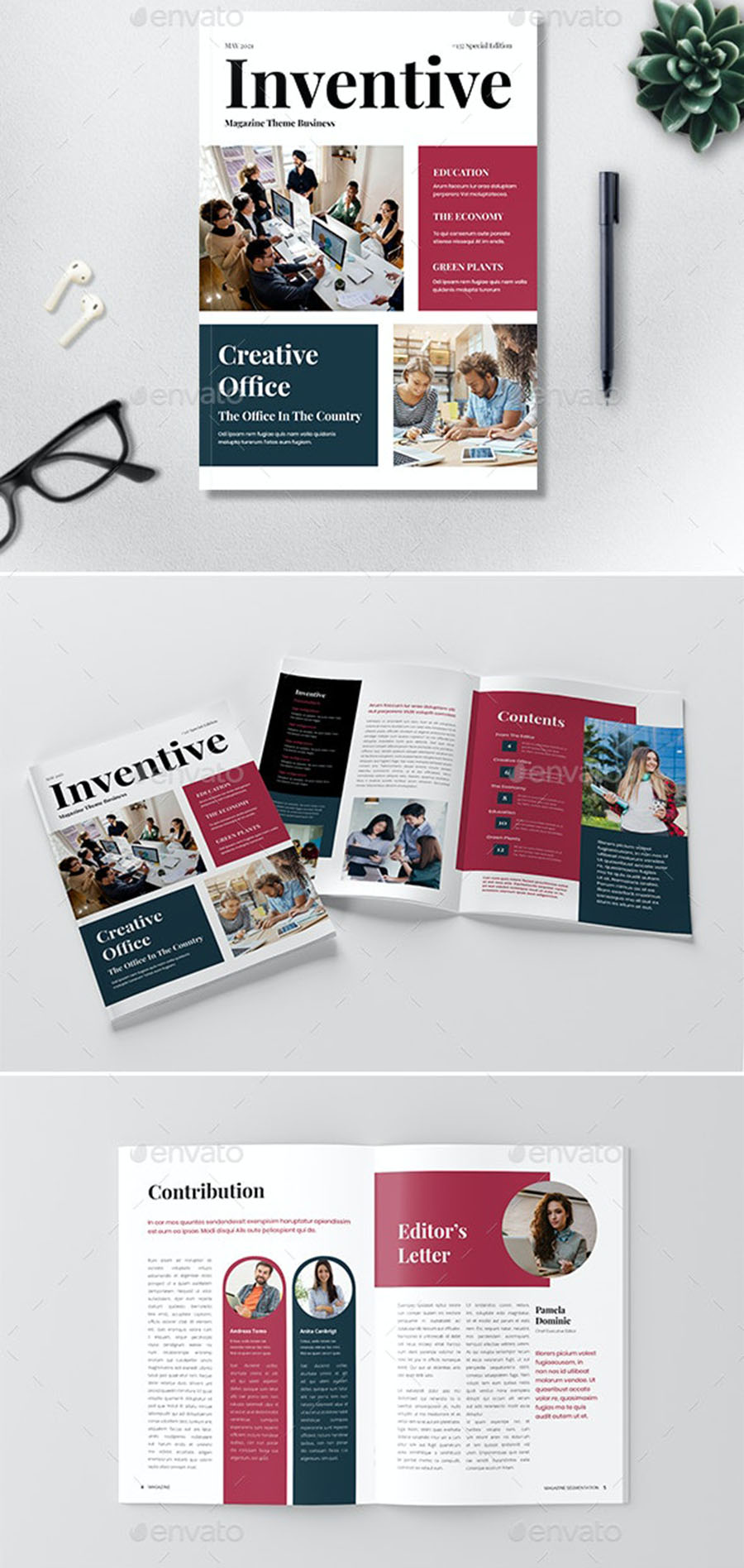 Inventive InDesign Magazine Template