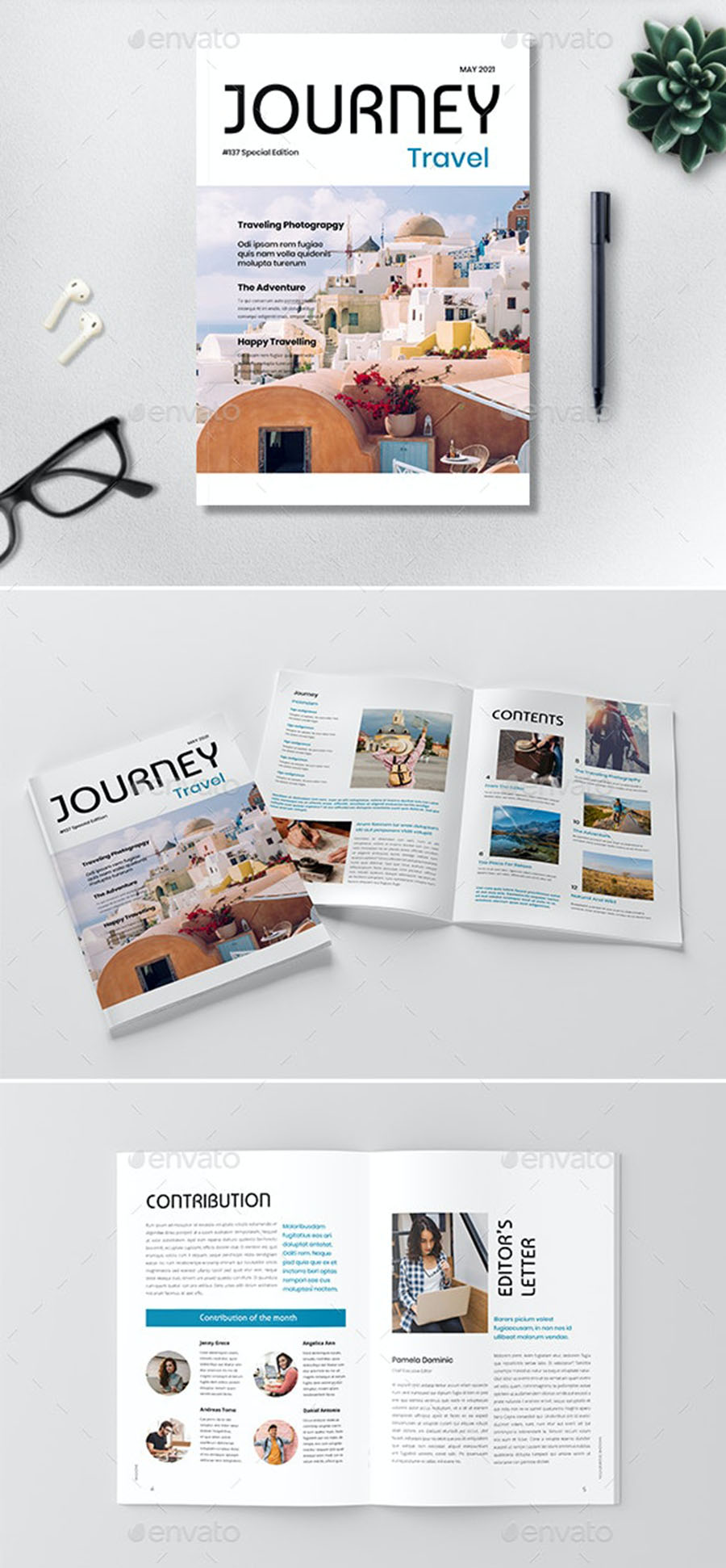 Journey InDesign Magazine Template
