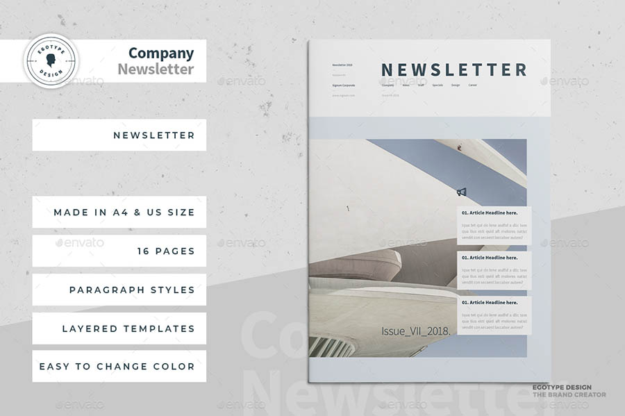 InDesign Newsletter Templates - 16 Pages