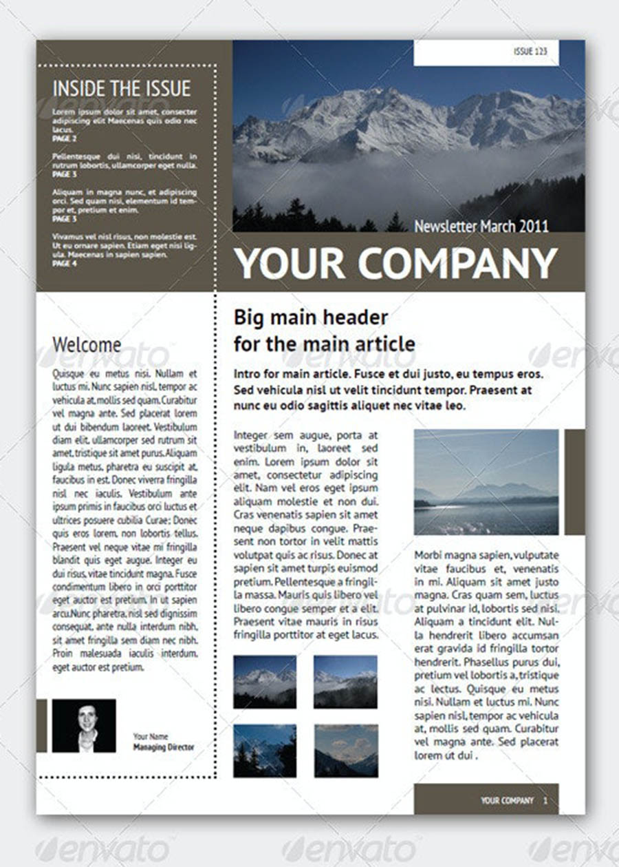 Newsletter Template (4 Pages – Adjustable)