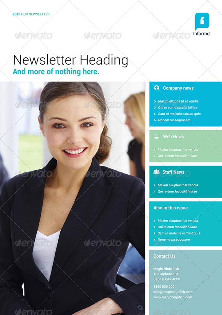 Informd InDesign Newsletter Templates
